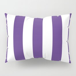 Regalia violet - solid color - white vertical lines pattern Pillow Sham