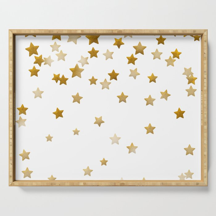 Falling Stars - Gold Marble Serving Tray