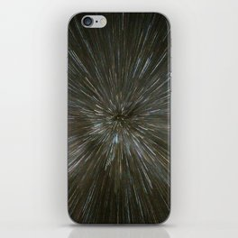zooming towards stars iPhone Skin