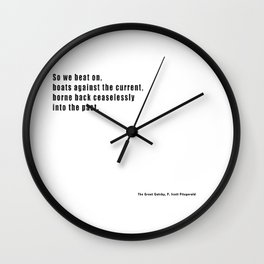 The Great Gatsby quote Wall Clock