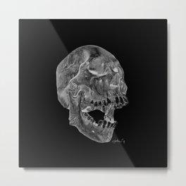 Negative Skull Metal Print