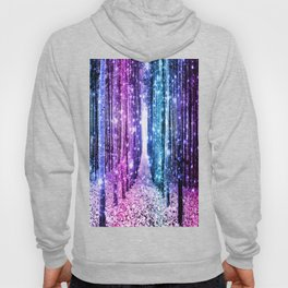 Magical Forest : Aqua Periwinkle Purple Pink Ombre Sparkle Hoody