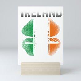 Ireland Clover Shamrock St Paddy's Saint Patrick's Day Beer Festival Gift Mini Art Print