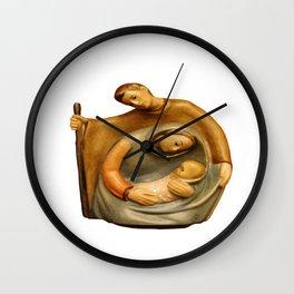 Nativity Scene Mary Joseph and Jesus Wall Clock