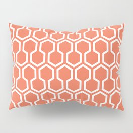 Honey Comb Pattern Coral Pillow Sham