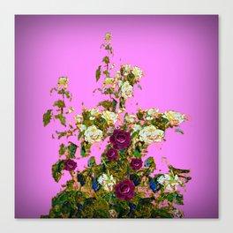 lilac PURPLE whiteb ROSESpurple ROES garden Canvas Print
