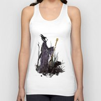 maleficent Tank Tops featuring Maleficent by Louise Hubbard