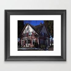 Pink House Framed Art Print