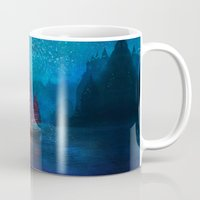 blues Mugs featuring Our Secret Harbor by Aimee Stewart