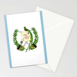 Guatemala flag emblem Stationery Cards