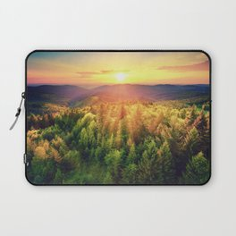Sunset over forest Laptop Sleeve
