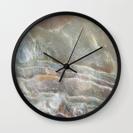 Stormy day abalone Wall Clock