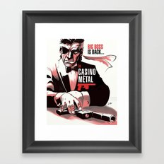 METAL GEAR: Casino Metal Framed Art Print