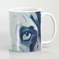 great dane Mugs featuring Great Dane in Purple by Barking Dog Creations Studio