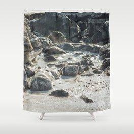 Ice Beach Winter Island Salem MA Shower Curtain
