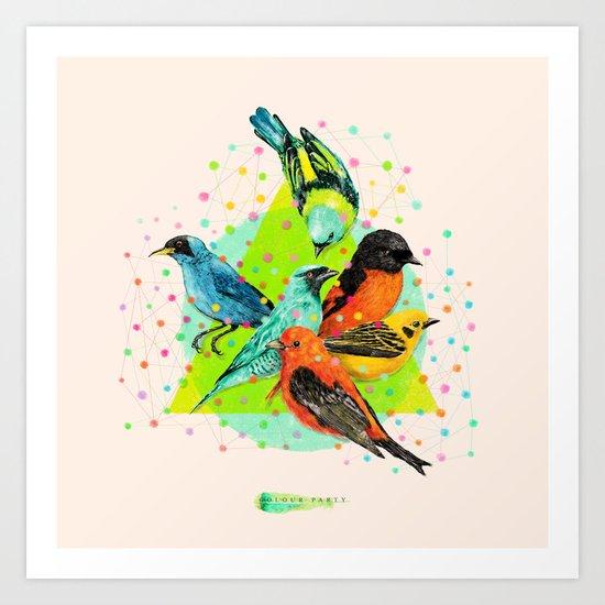 Colour Party III Art Print