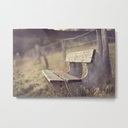 Sit Down a While Metal Print