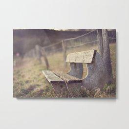 Sit Down a While Metal Print