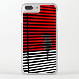 Samurai Cat Clear iPhone Case