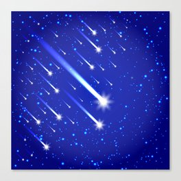 Space background with stars and comets Canvas Print