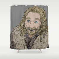 fili Shower Curtains featuring Golden Prince by Mhyin