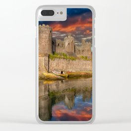 Conwy Castle Sunset Clear iPhone Case