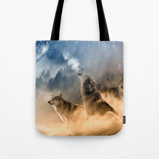 Fantasy Wolf Wolves Animal Tote Bag