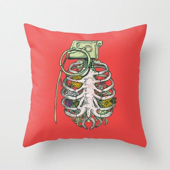 Grenade Garden Throw Pillow