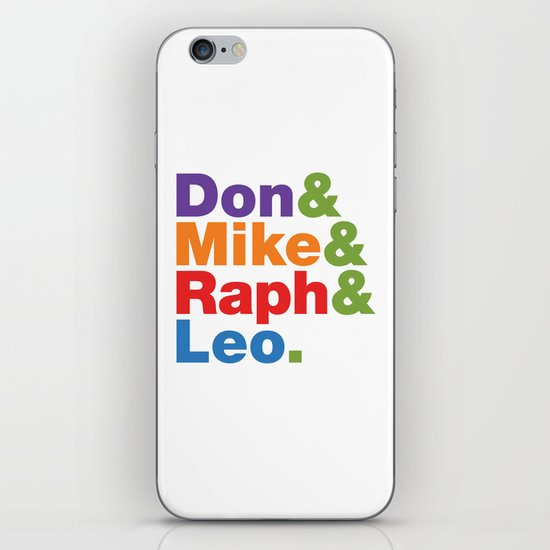 Don & Mike & Raph & Leo. iPhone & iPod Skin