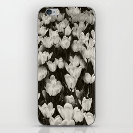 Field of white butterflies  iPhone Skin