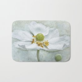 Anemone with Textured Background Bath Mat