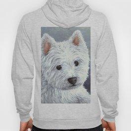 Dog 137 White Westie Hoody