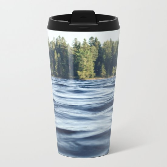 Summer Forest Lake Metal Travel Mug