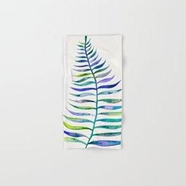Indigo Palm Leaf Hand & Bath Towel
