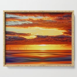 Irish Sea Sunset Serving Tray