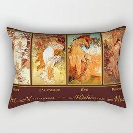 Art Nouveau Mucha Four Seasons Rectangular Pillow