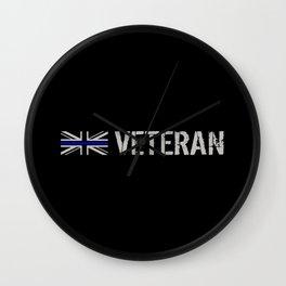 British Police Veteran Wall Clock