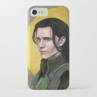 loki iPhone & iPod Cases featuring Loki by Slugette