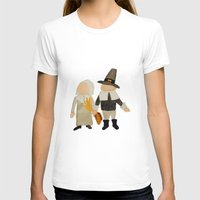 toddler T-shirts featuring Thanksgiving Pilgrim Toddler Girl and Boy Couple by PodArtist