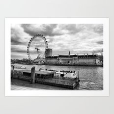 Along the Thames Art Print