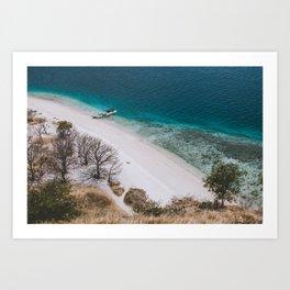 Hot white sand beach Art Print