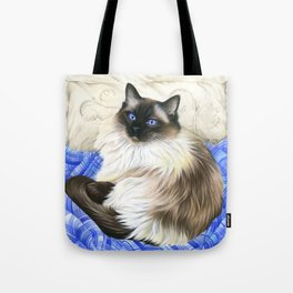 My Favourite Place Ragdoll Cat Tote Bag