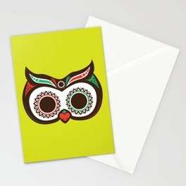 Day 0f the Dead Owl Stationery Cards