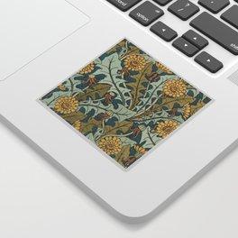 Art Nouveau Dandelion Pattern Sticker