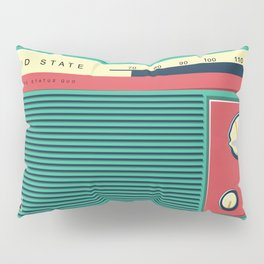 Old School Radio Pillow Sham