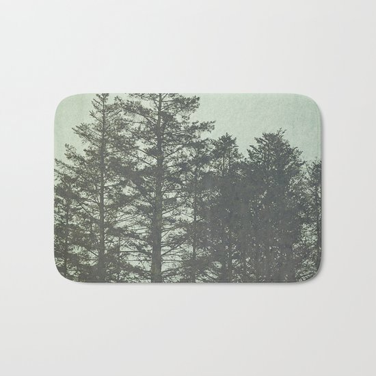 Trees in Fog Bath Mat