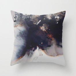 left to smolder Throw Pillow