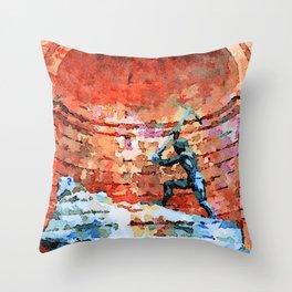 Catanzaro: fountain Throw Pillow