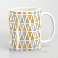 Golden and silver triangles Mug