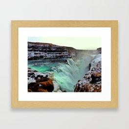 Gulfoss Falls Framed Art Print